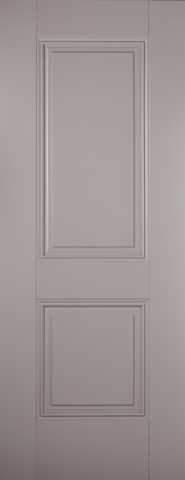 LPD Internal Grey Arnhem 2 Panel Primed Fire Door