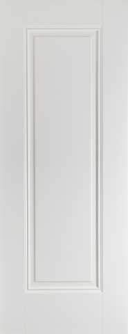 LPD Internal Eindhoven 1 Panel White Primed Fire Door