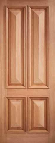 LPD External M&T Islington 4 Panel Hardwood Door
