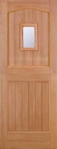 LPD External M&T Hardwood Stable 1 Light Clear Glazed Door