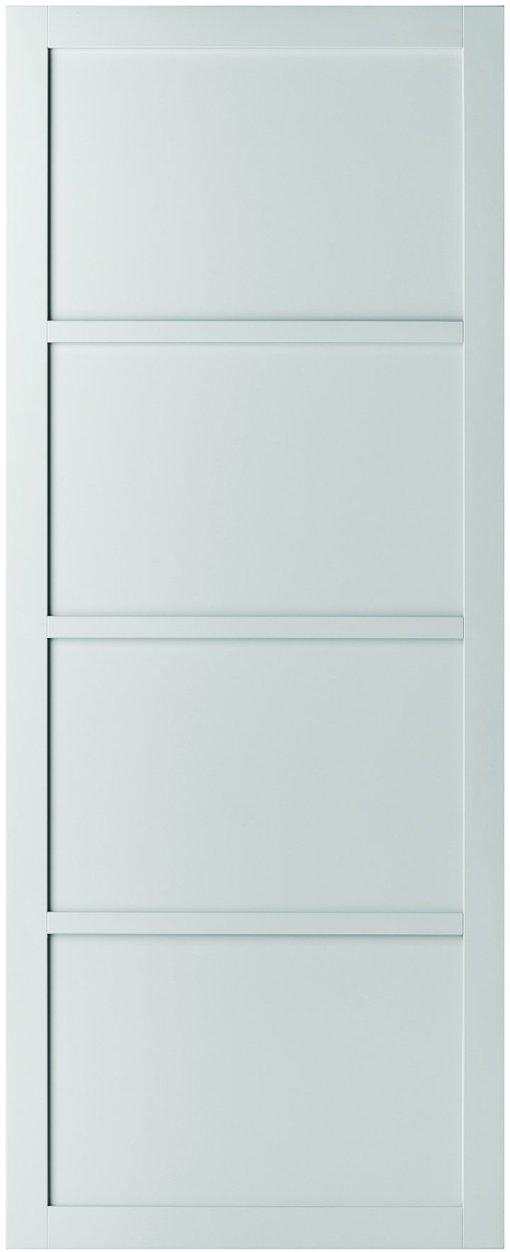 Weekamp Doors Internal Industrial Style Four Panel White Door with 80mm Stiles