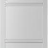 Weekamp Doors Internal Industrial Style 3 Panel White Door with 80mm Stiles