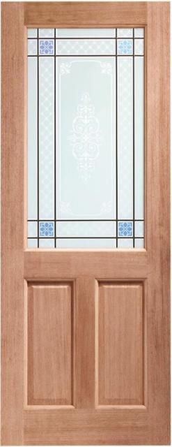 XL Joinery External 2XG Dowelled Door with Single Glazed Carroll Glass