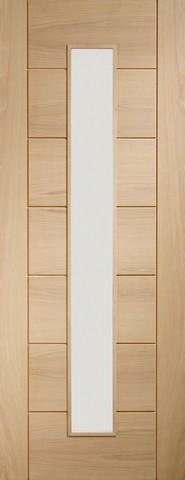 XL Joinery Internal Oak Palermo 1 Light with Clear Glass Fire Door
