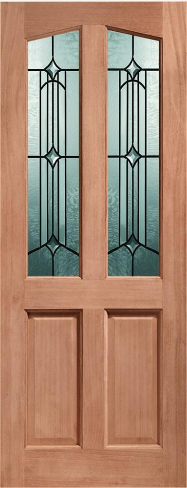 XL Joinery External Richmond Dowelled Door With Donne Glass