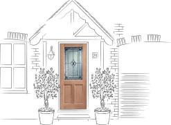 XL Joinery External 2XG Dowelled Door with Double Glazed Coleridge Glass