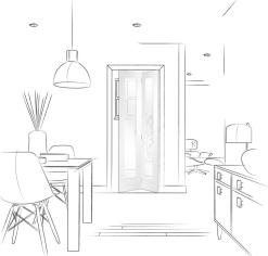 XL Joinery Internal Solid White Primed Pattern 10 Bi-Fold Door With Clear Glass