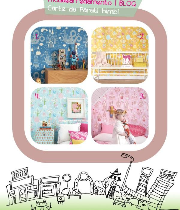 Il design per piccoli di Bimbily: carte parati colorate e divertenti.