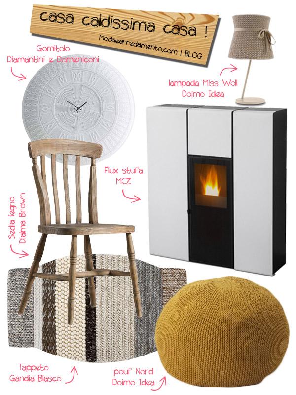 Caldo in casa mobili e oggetti per arredare casa con la lana for Oggetti per arredare