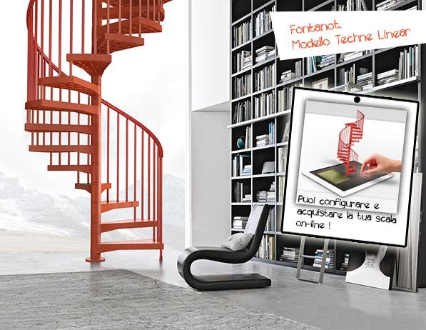 In casa ti manca la scala? Fontanot risponde con scale di design.