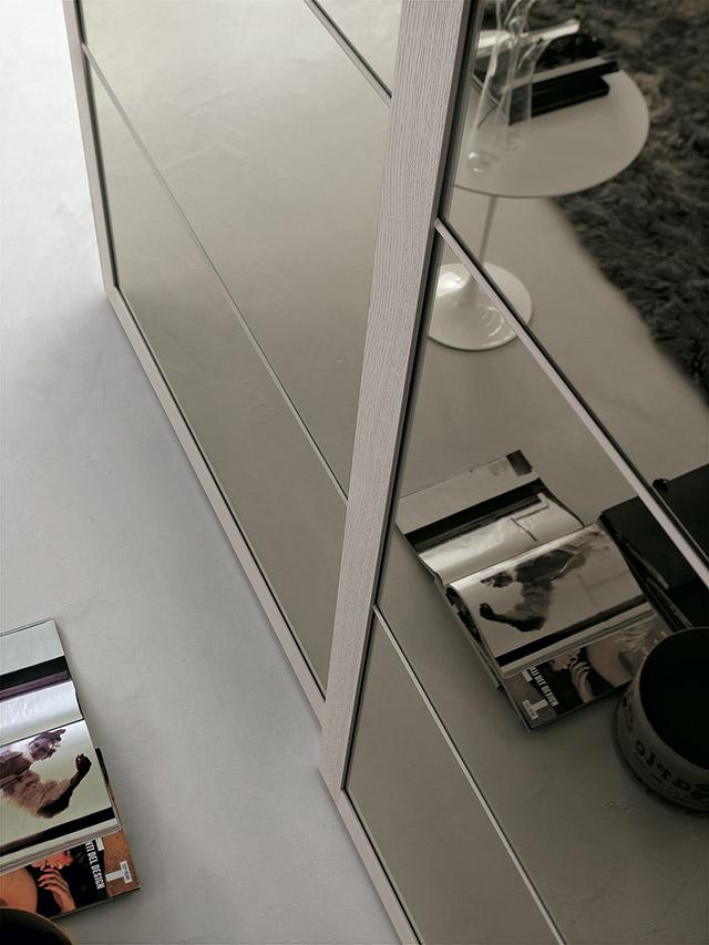 Anta specchio armadio Tomasella 4 settori.