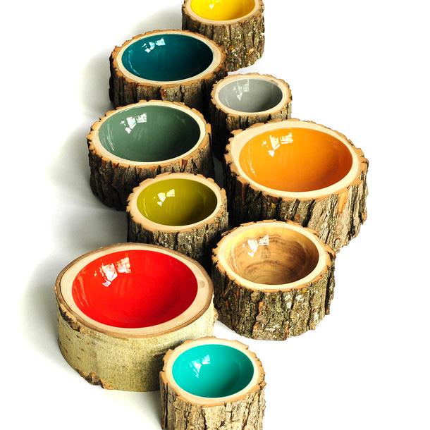 Vasi da interno design di legno