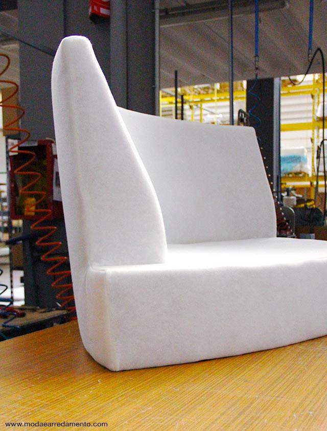 Doimo Salotti: divano Palace (parte dell'angolo) prima di essere rivestito con il tessuto.