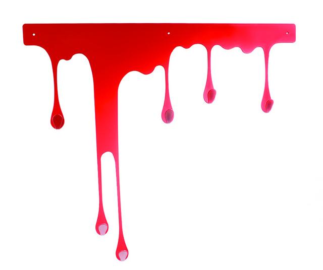 pultpo appendiabiti drop rosso