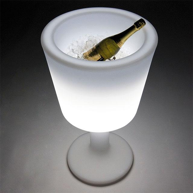 Immagine portabottiglie light drink bianco