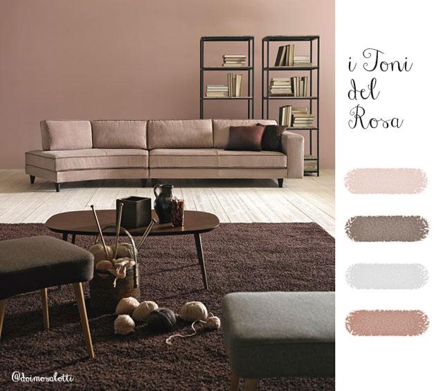 Scegliere il colore per la parete: i toni del rosa.