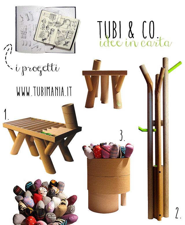 Mobili in cartone immagine prodotti di Tubimania.