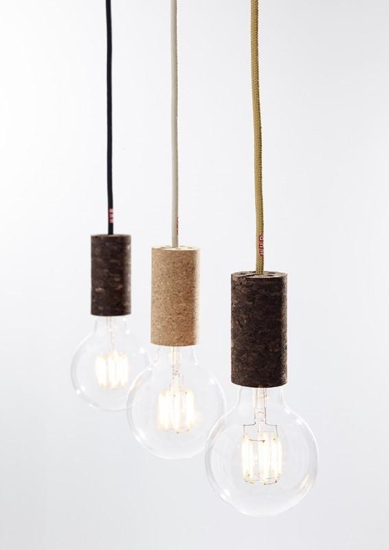 Nud lampada Cork