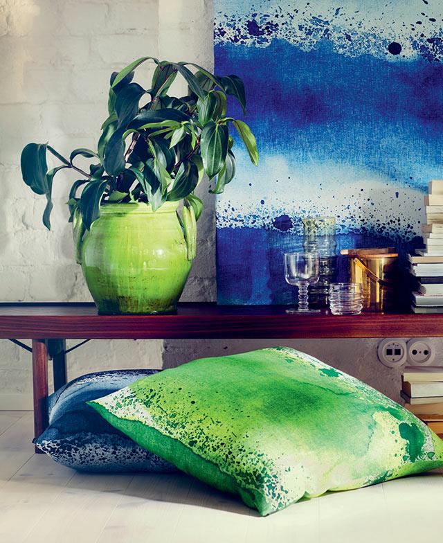 Marimekko home cuscino verde.