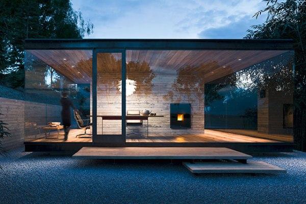 Immagine casa moderna con stufa a pellet MCZ