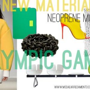 Neoprene mood - www.modaearredamento.com inspiration from Olympic game.