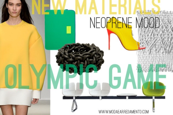 Neoprene mood - www.modaearredamento.com inspiration from Olympic game.