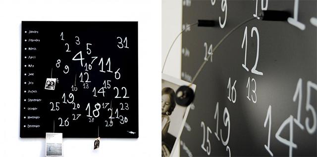 Kork calendario perpetuo nero.