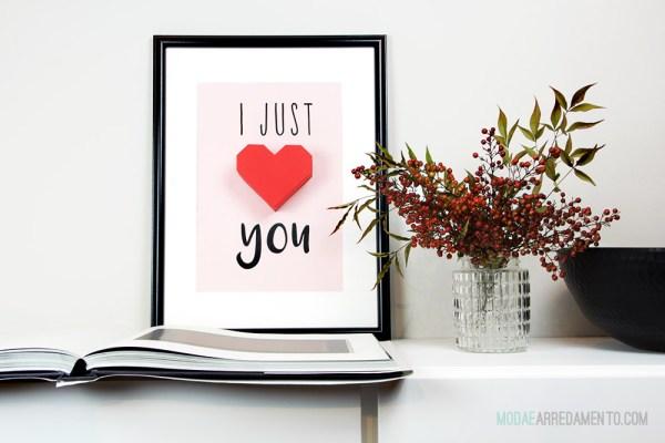 San Valentino tutorial di carta, cuore 3d rosso.
