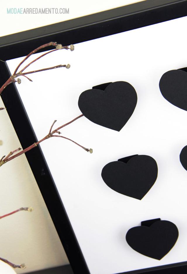 San Valentino tutorial di carta, cuore 3d - dettaglio.