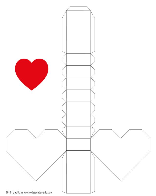 San Valentino tutorial di carta, cuore 3d.