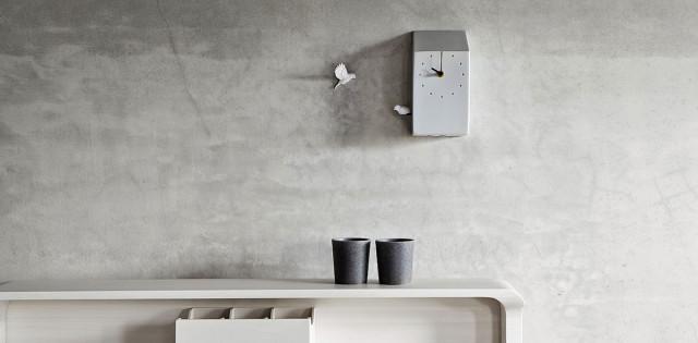 Orologio da parete design Cuckoo clock - bianco dettaglio.