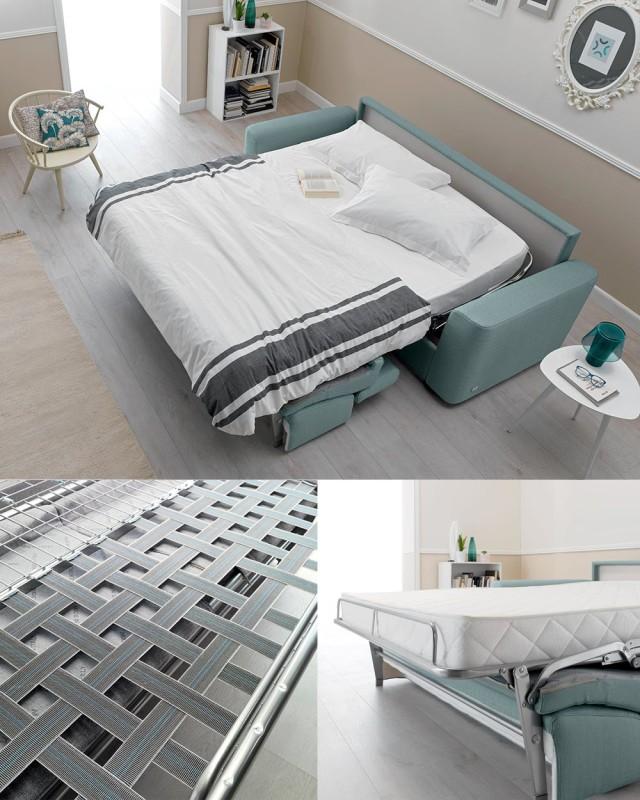 Doimo Salotti divano Marshall rete e materasso.