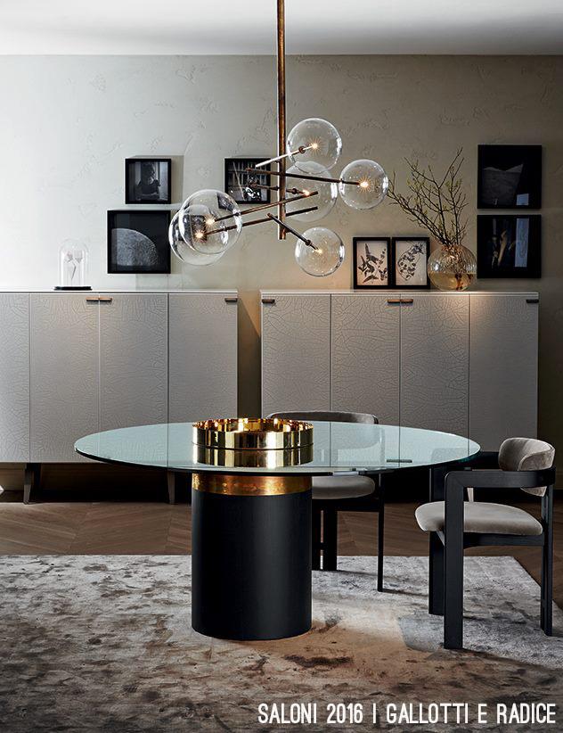 Gallotti e Radice - tavolo e lampada ottone.