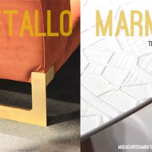 Trend Milano 2016 - salone del mobile - copertina marmo e metallo