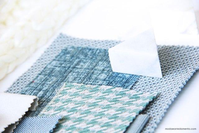 Moodboard di tessui per descrivere il mio blog di arredamento e design.