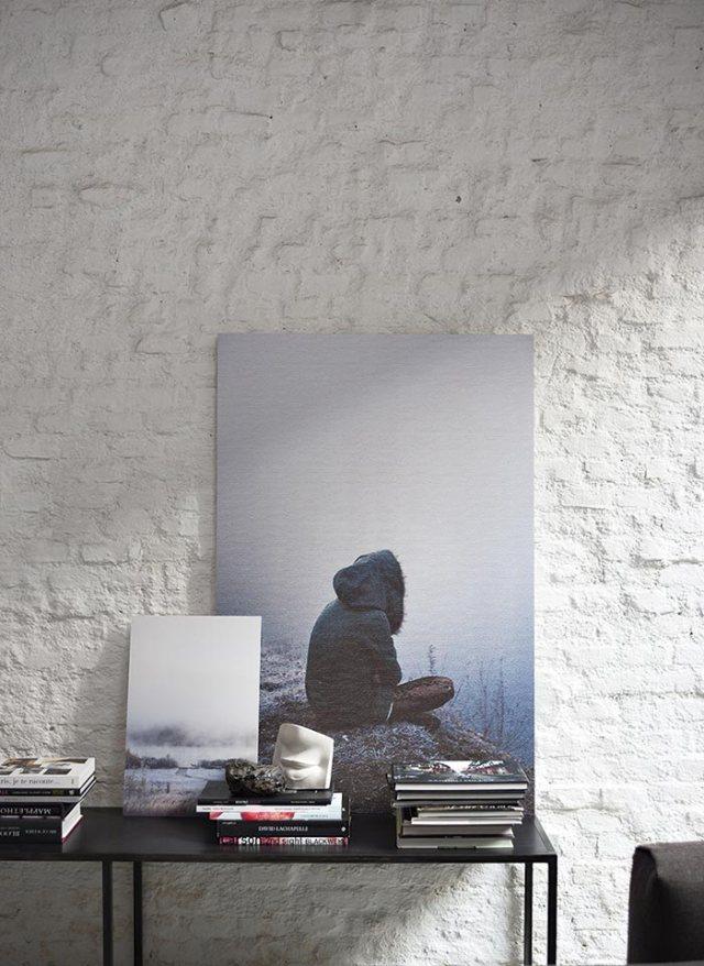 Pareti di mattone bianco per lo steil industrial.