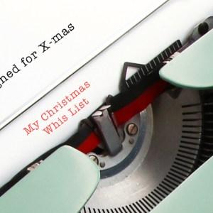Regali di Natale di design : whis list.