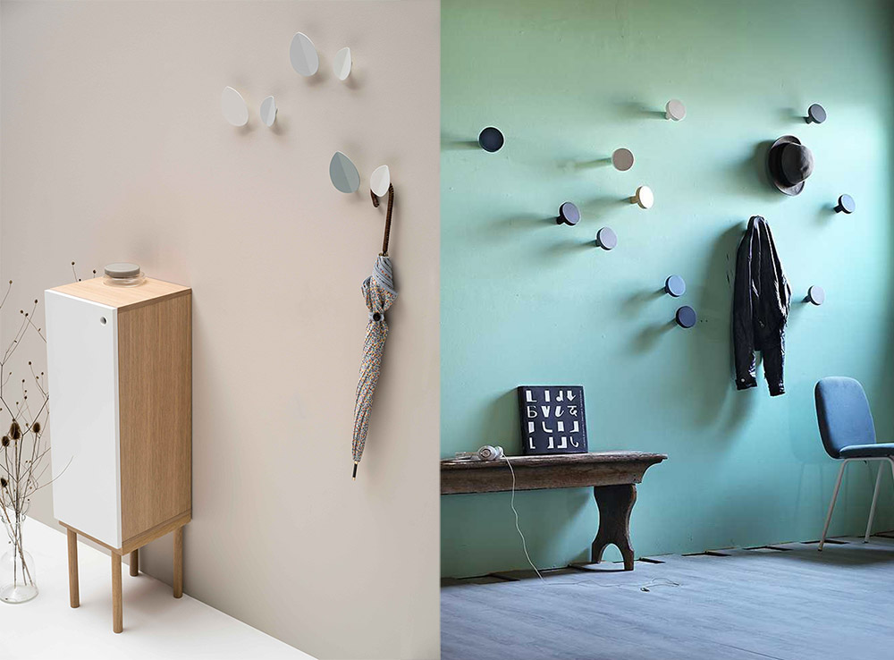 In ingresso o in camera: appendiabiti da parete per tutti i gusti.