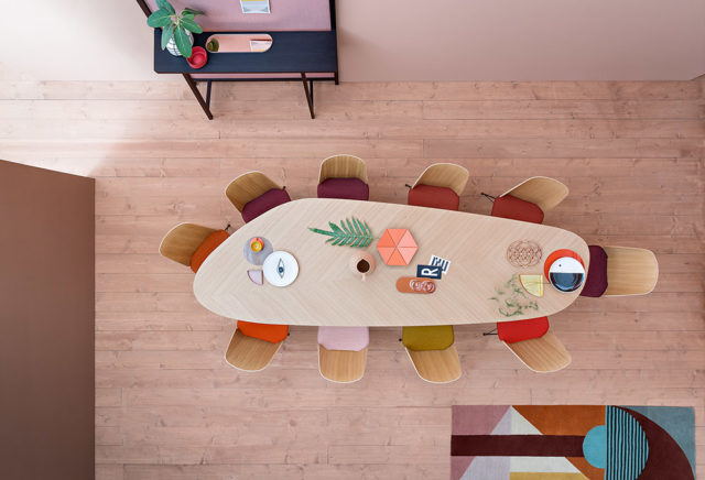 Zanotta tavolo Tweed