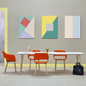 Pedrali al Salone del Mobile 2017 - tavolo e sedie Babila.
