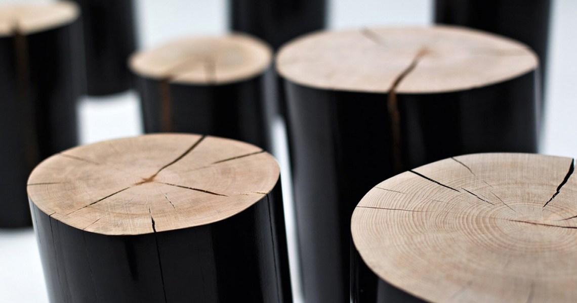 Ispirati dalla natura: dai tronchi tavoli alla libreria albero.
