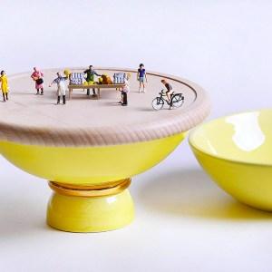 Atelier Macrame collezione Entrae - versione giallo - design Laura Calligari.