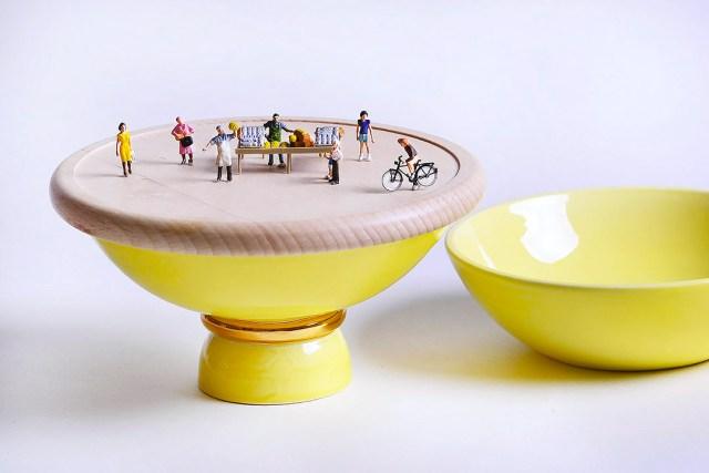 Atelier Macrame collezione Entrèe - versione giallo - design Laura Calligari.