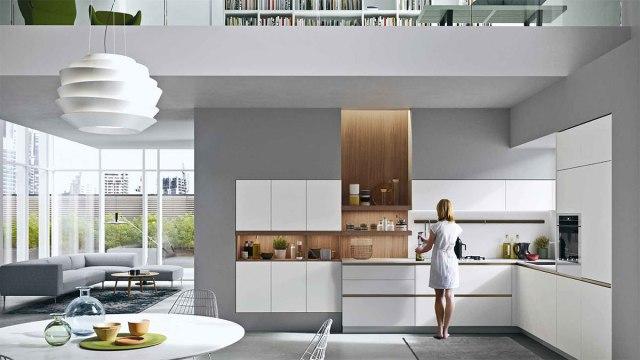 Cucine moderne della collezione Everyone di Snaidero - modello Joy colore bianco.