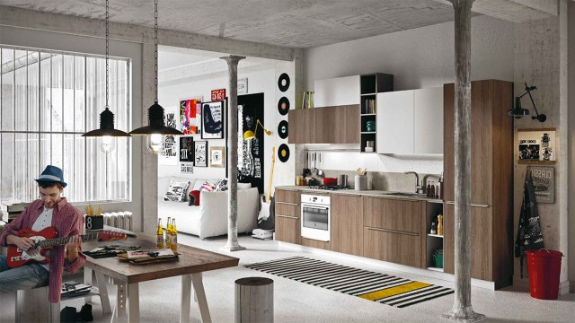 Cucine moderne della collezione Everyone di Snaidero - modello Feel