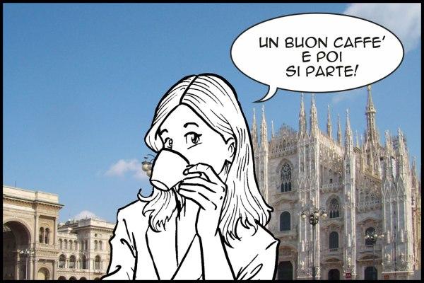 Bianca Valdo Milano Duomo caffè.