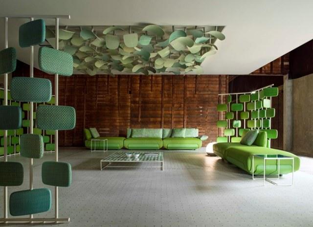 Divisorio per la casa giravolta – colore verde.