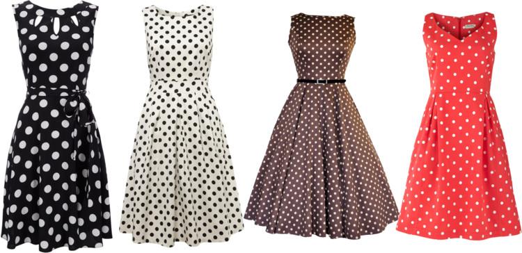 dotty dress moda