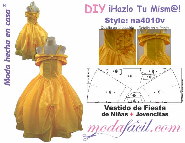 Moldes De Vestidos De Fiesta Para Niñas Y Jovencitas Modafacil