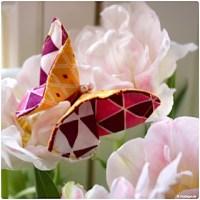 Origami Schmetterling aus Stoffresten nähen